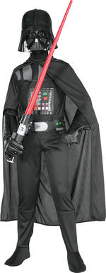 Darth Vader Costume Boys Fancy Dress Kids Child Star Wars Licensed